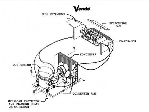 VENDING MACHINE REPAIR|Wiring for evaporator fan and
